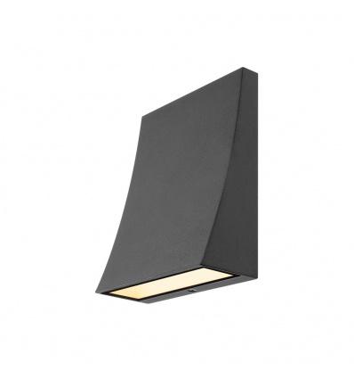 DELWA WIDE LED, applique extérieure, noir, LED 10W 3000K, 100°, IP44
