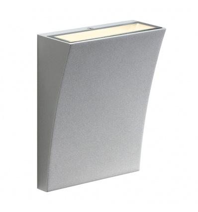 DELWA WIDE LED, applique extérieure, gris argent, LED 10W 3000K, 100°,