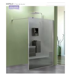 Paroi de douche fixe miroir 100cm avec verre 8mm et réversible ESPELO
