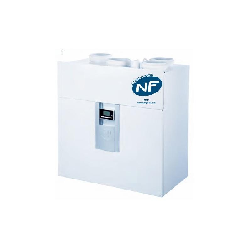 Vmc double flux ideo 325 ecowatt filaire unelvent 600899 for Vmc double flux silencieuse