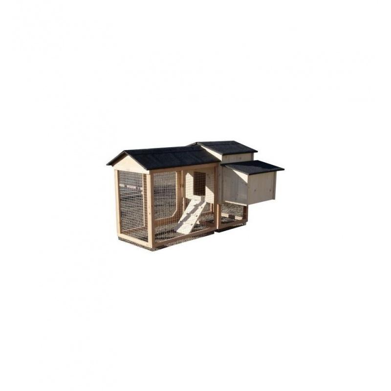 poulailler compact lina de 1 4 poules bois douglas couleur de la toiture vert lichen. Black Bedroom Furniture Sets. Home Design Ideas