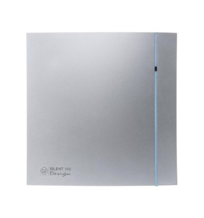 Aérateurs VMP Série SILENT 100 CHZ SILVER DESIGN temporisé et hygrostat silencieux
