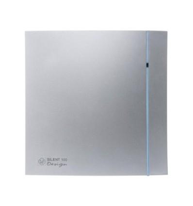 Aérateurs VMP Série SILENT 200 CHZ SILVER DESIGN silencieux temporisé et hygrostat