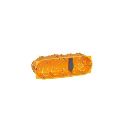 Boîte multiposte Batibox - cloison sèche - 3 postes - 4/5 mod - prof. 40