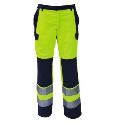 Pantalon HV jaune fluo/bleu nuit 44