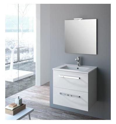 Plan double vasque Iberia céramique 120 x 46 cm pour meuble Studio Kit Comfort