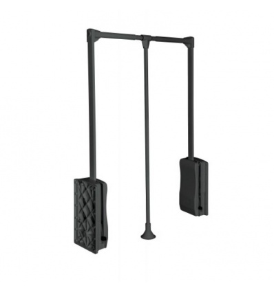 Penderie double Elite - 8 kg - fixation latérale - largeur 875/1200 mm - finition antracite