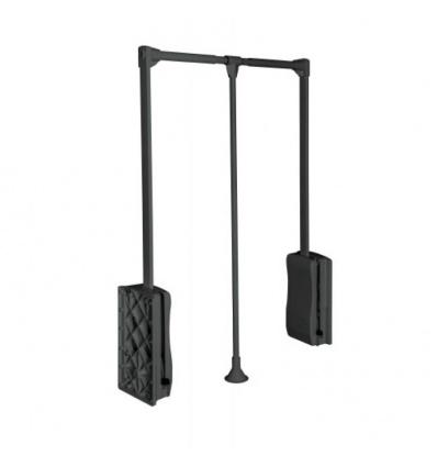 Penderie double Elite - 8 kg - fixation latérale - largeur 645/910 mm - finition antracite