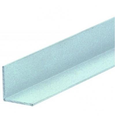 Cornière égale en aluminium, finition argent satiné, 20x20 épaisseur 1,5 mm