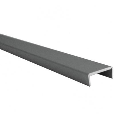 Profil d'habillage aluminium - pour panneau épaisseur 19 mm - satiné argent - 3 m