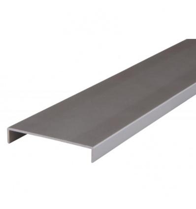 Nez de cloison en aluminium - largeur intérieure 78 mm - longueur 2600 mm - finition blanc
