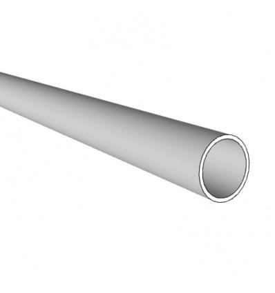 Tubes ronds aluminium, satiné argent, longueur 3 m, Ø 25, épaisseur 1,5 mm