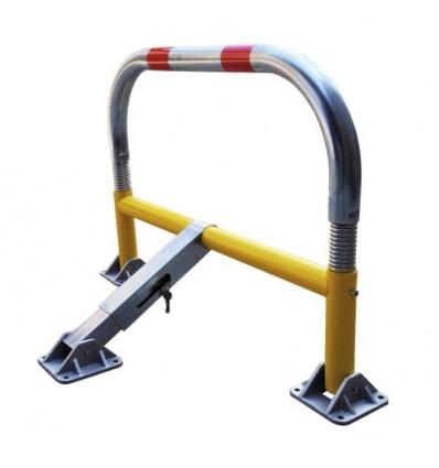 Barrière de parking flexible jaune, tube diamètre 55 mm, hauteur 65 cm, longueur 97 cm