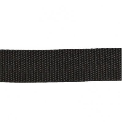 Sangle d'arrimage polypropylène noir largeur 25 mm en rouleau de 50 m