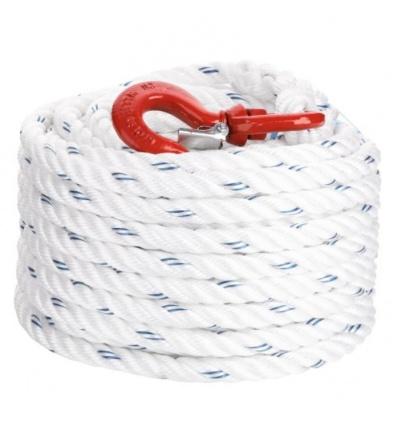 Corde à poulie polypropylène diamètre 20 mm longueur 25 m