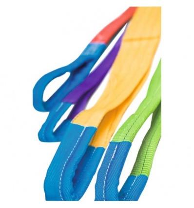 Elingue textile plate coloris jaune, charge maximale d utilisation 3000 kg, longueur 3 m