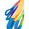 Elingue textile plate coloris gris, charge maximale d utilisation 4000 kg, longueur 4 m