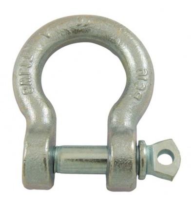 Manilles lyres à piton à oeil acier estampé zingué blanc diamètre axe 18 mm