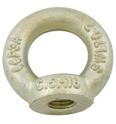 Anneaux de levage femelle acier zingué blanc, filetage 10 mm, boîte de 10 pièces