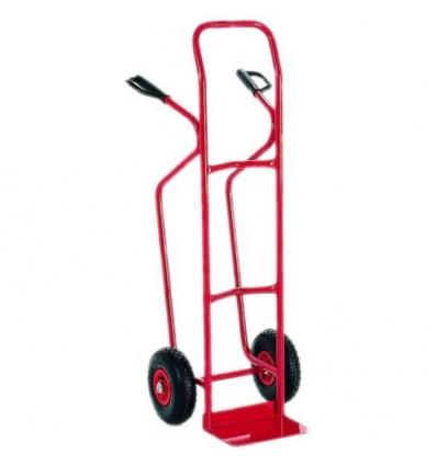 Diable pour charges hautes bavette fixe, roues pneumatiques, charge utile 250 kg,