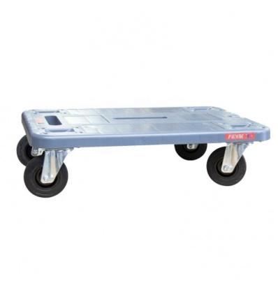 Plateau roulant polypropylène, roues caoutchouc, charge utile 210 kg