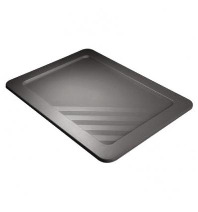 Couvercle pour bacs gerbables Novabac, coloris gris acier, 18 litres
