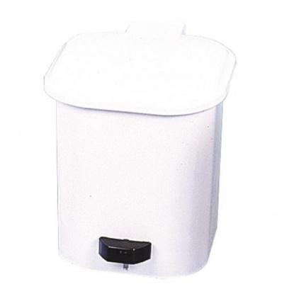 Poubelle plastique blanc pour sanitaires, 4 litres
