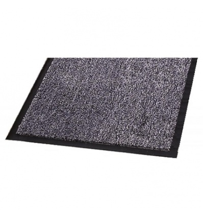 Tapis antipoussière Welcome, coloris anthracite, dimensions 60 x 90 cm
