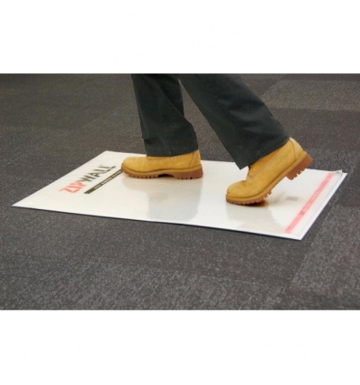 Kit tapis collant anti-poussière et antidérapant Zipwall Mat Starter Kit, 30 feuilles