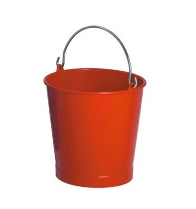 Seau rond en plastique rouge diamètre 280 mm, 10 litres