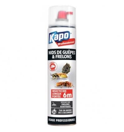 Insecticide longue portée Kapo spécial nids de guêpes et frelons aérosol de 750 ml