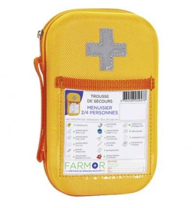 Trousse de secours Menuisier 2/4 personnes en EVA Orange Fluo