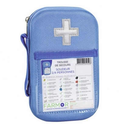 Trousse de secours Soudeur 2/4 personnes en EVA Bleue Fluo