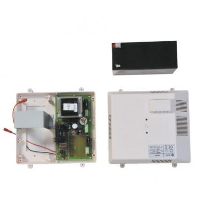Alimentation secourue avec batterie fixation rail DIN type PSXM 230V AC / 12V DC en 1A et 24V DC en 2A