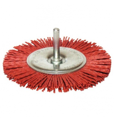 Brosse circulaire sur tige nylon diamètre 75 mm fil diamètre 0,2 mm