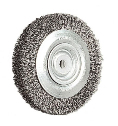 Brosse circulaire acier diamètre 200 mm épaisseur 20 mm fil diamètre 0,35 mm