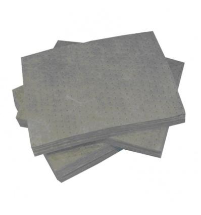 Feuilles absorbantes universelles PIG® en polypropylène pour huiles, eau, solvants, carton de 100 feuilles
