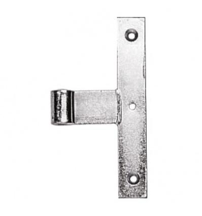 Paumelle de milieu à grand écartement acier zingué hauteur 190 mm