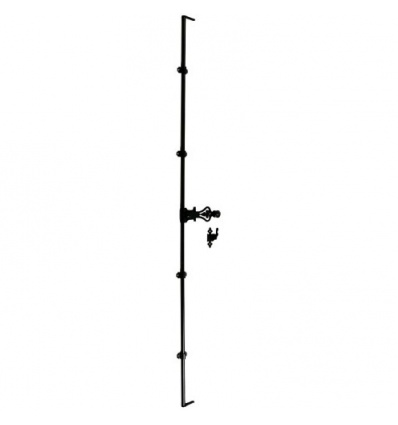 Tringles rondes 2500 mm pour espagnolettes traitement phorétique noir