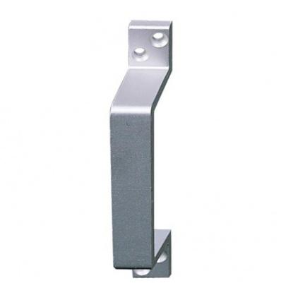 Poignée de tirage déportées aluminium profilées pour porte battante longueur 156 mm