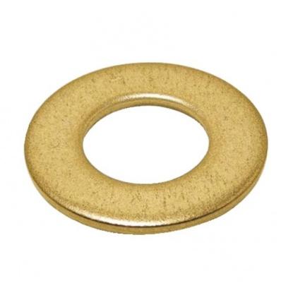 Rondelles plates série moyenne Mu laiton, diamètre 10 mm, sachet de 100 pièces