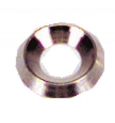 Rondelles cuvettes décolletées laiton nickelé, diamètre 4 mm, sachet de 200 pièces