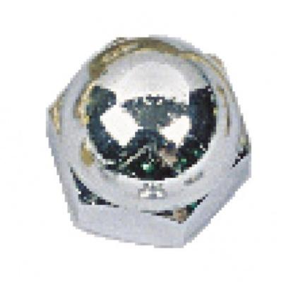 Écrous borgnes laiton chromé, diamètre 5 mm, sachet de 25 pièces