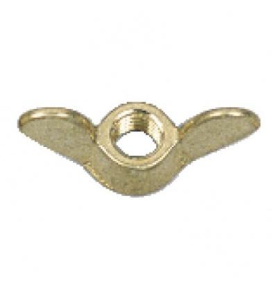 Écrous à oreilles laiton, diamètre 8 mm, sachet de 25 pièces