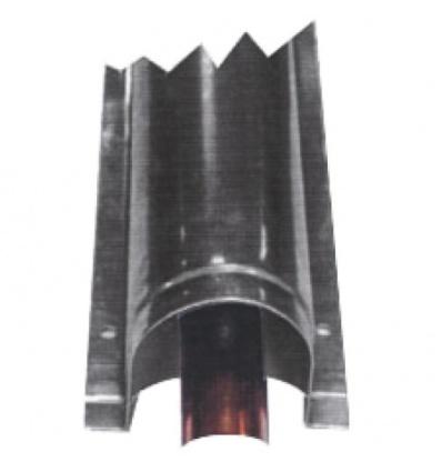 Goulotte de protection inox largeur 90 mm