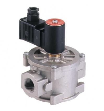 Électrovanne gaz basse pression (0 à 360 mbar) à réarmement automatique 20x27 - 12 (n)m3/h