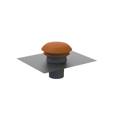 chapeau de toiture 125 gris