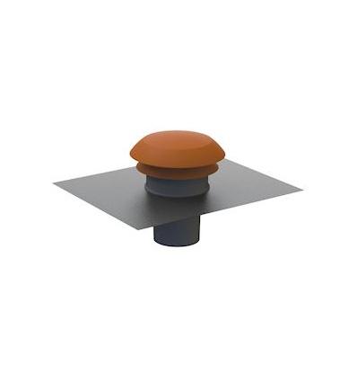 Chapeau de toiture ronde gris D 125