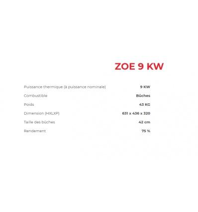 Poêle à bois ZOE 9 KW