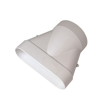 Raccord Minigaine blanc mixte droit équivalent D125 60x200